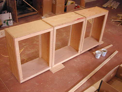 Plywood Cabinets I added the plywood to the