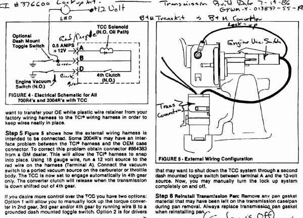 700R4 TCI a 700r4 transmission wiring diagram diagram wiring diagrams for 700r4 transmission wiring diagram at crackthecode.co