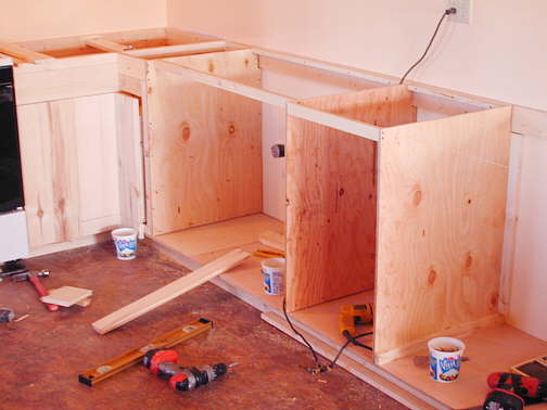 To Firm Up The 1 2 Inch Plywood I Ed X S And Other Lumber Along Bottoms Tops Backs Fronts Piece Running Across Sink